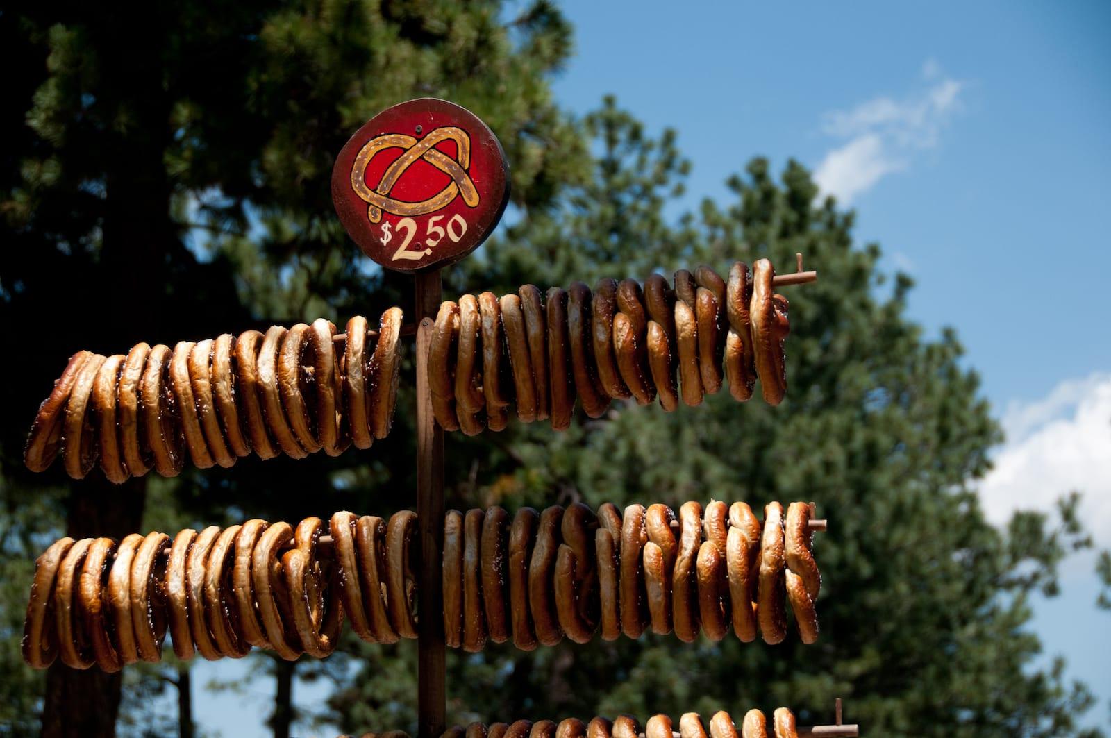 Colorado Renaissance Festival Soft Pretzels for Sale