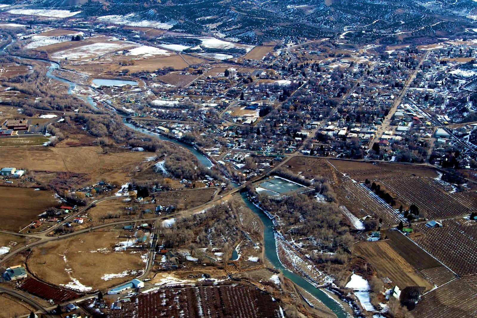 Paonia Colorado Aerial View