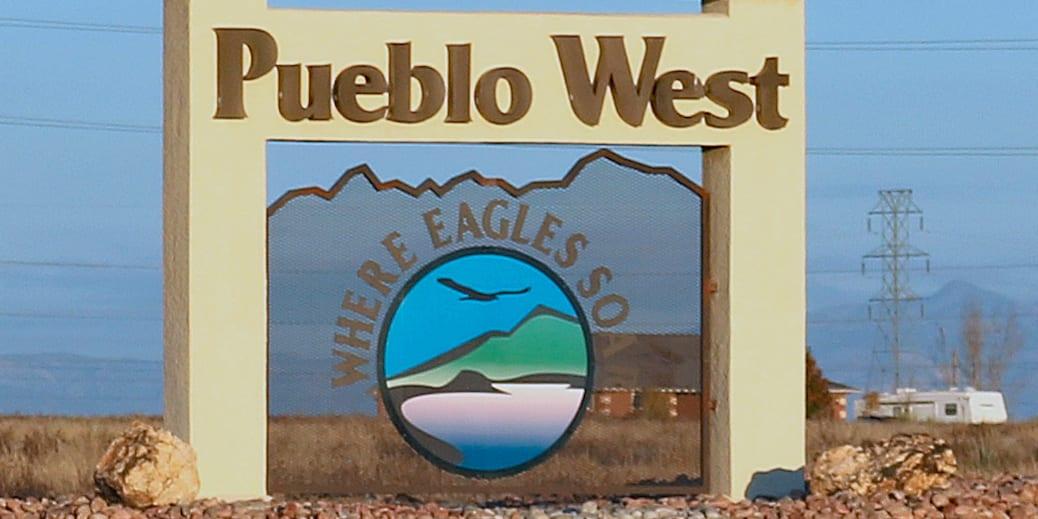 Pueblo West Colorado Sign