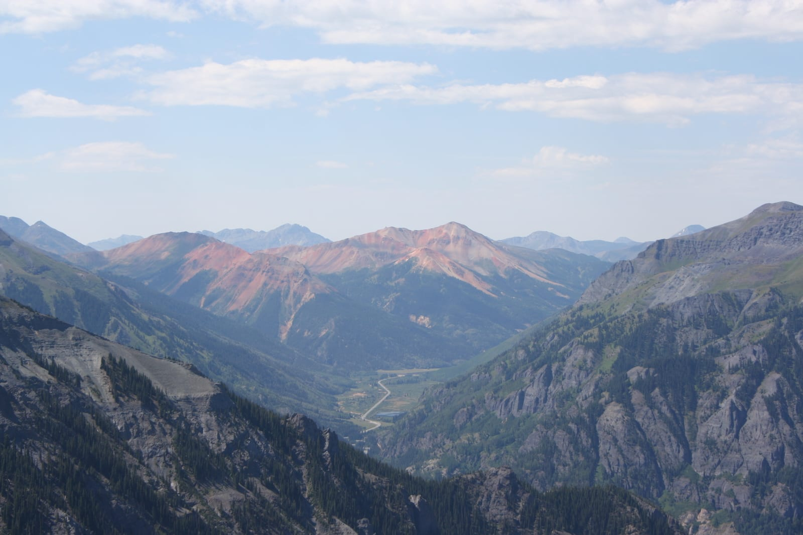 Red Mountain, Ironton Park and Million Dollar Highway Aerial View Colorado
