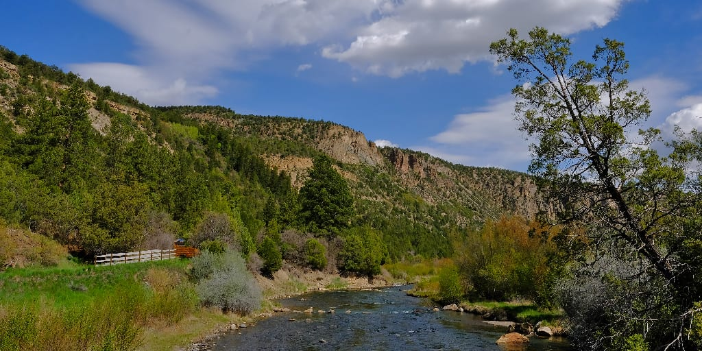 Uncompaghre River at Pa Co Chu Puck Campground Ridgway State Park Colorado
