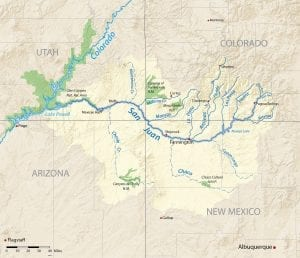 San Juan River Map Colorado Utah