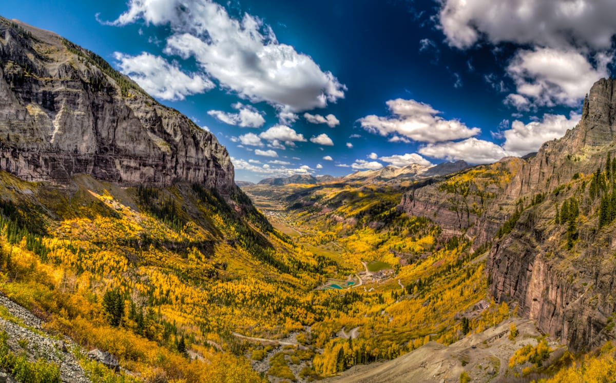 Telluride Colorado San Juan Mountains Fall Colors