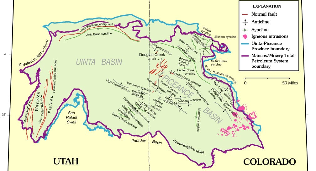 Uinta and Piceance Basins Geologic Map