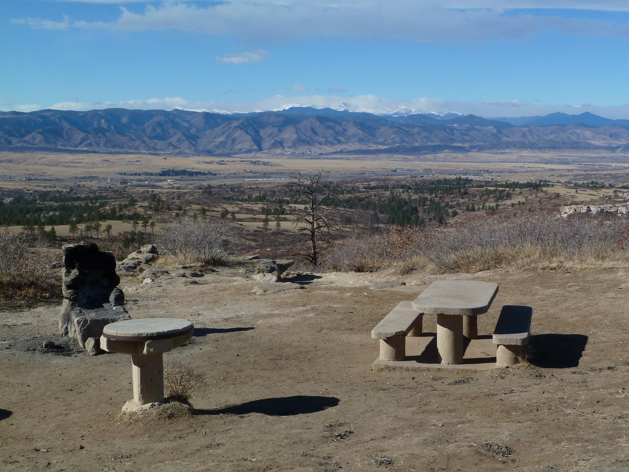 views from daniel's park sedalia colorado