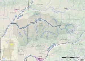 White River Colorado Utah Basin Map