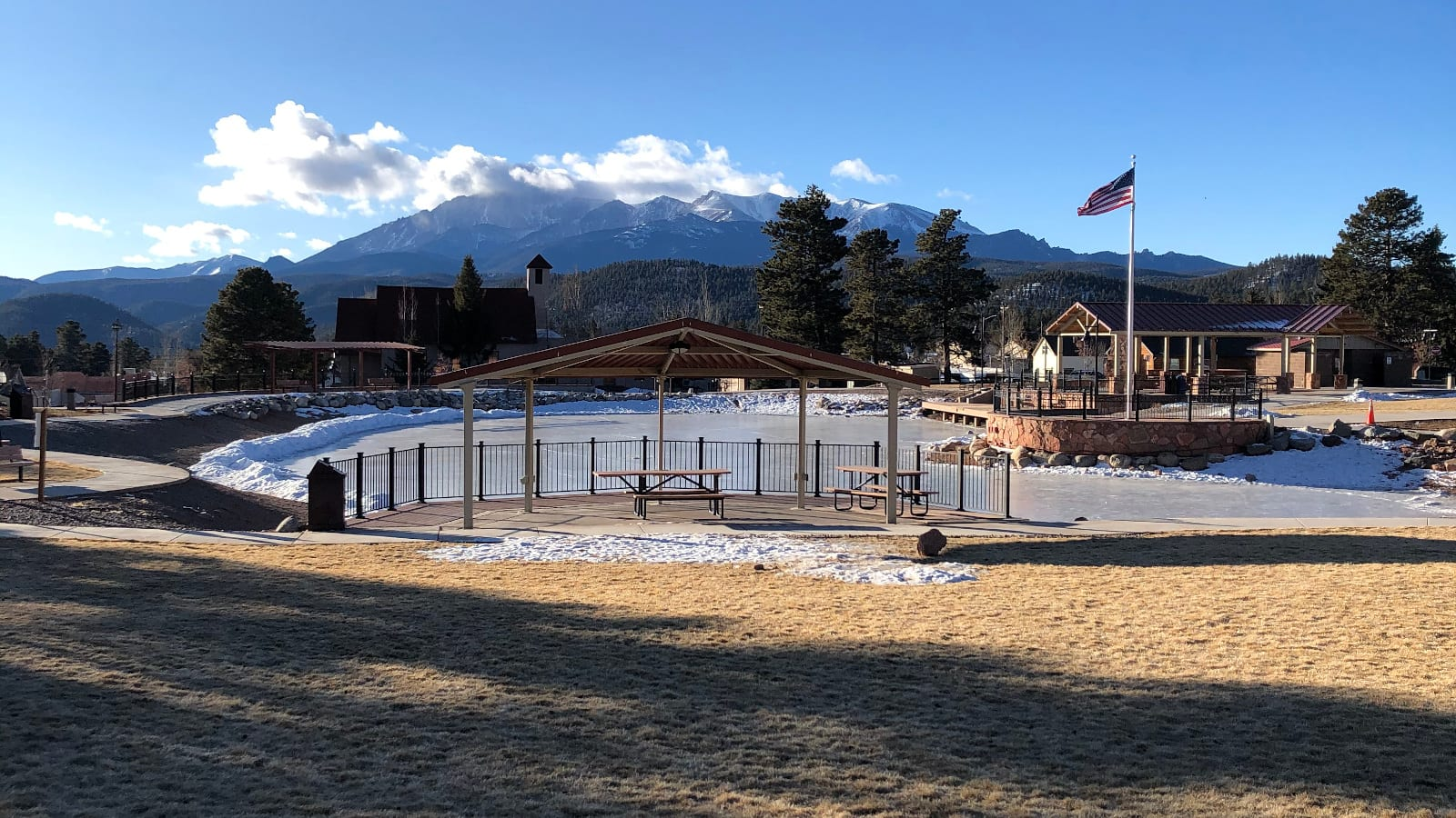 Woodland Park CO Memorial Park Pikes Peak