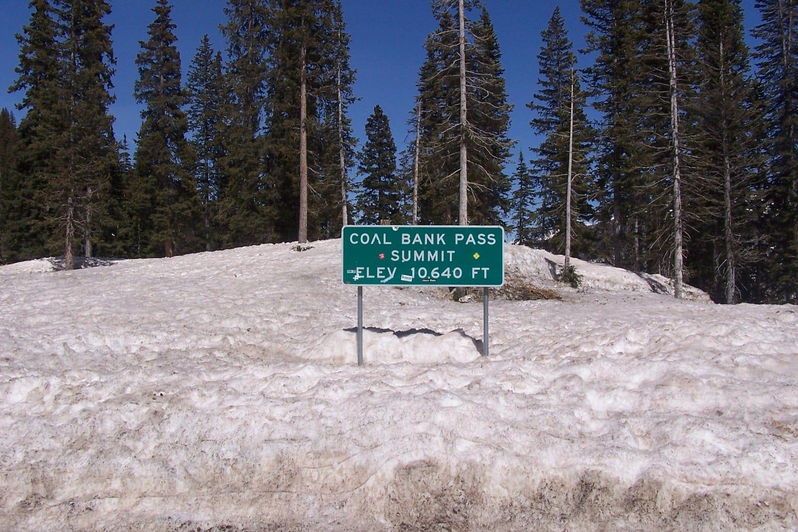 Coal Bank Pass sign, Colorado