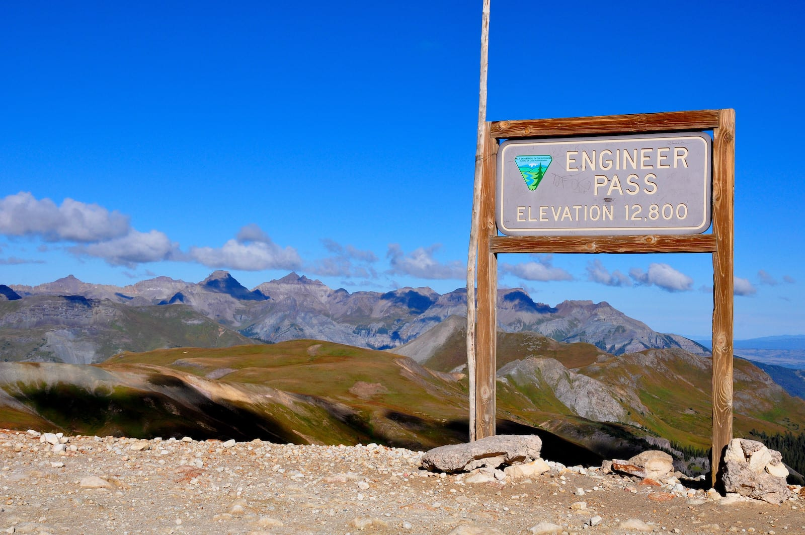 Engineer Pass sign, Colorado
