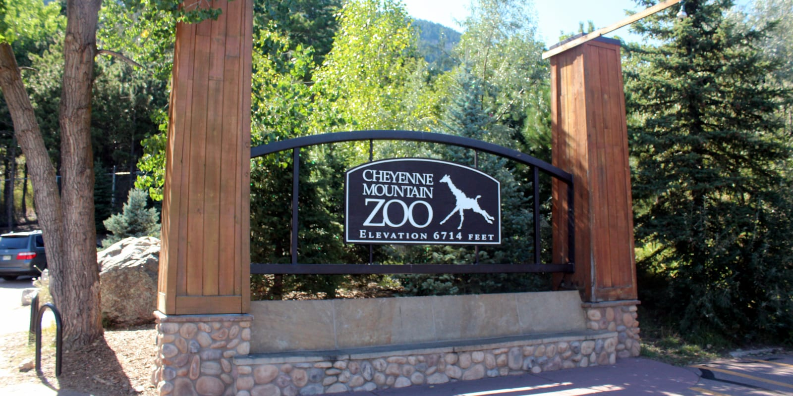 Entrance to Cheyenne Mountain Zoo, CO