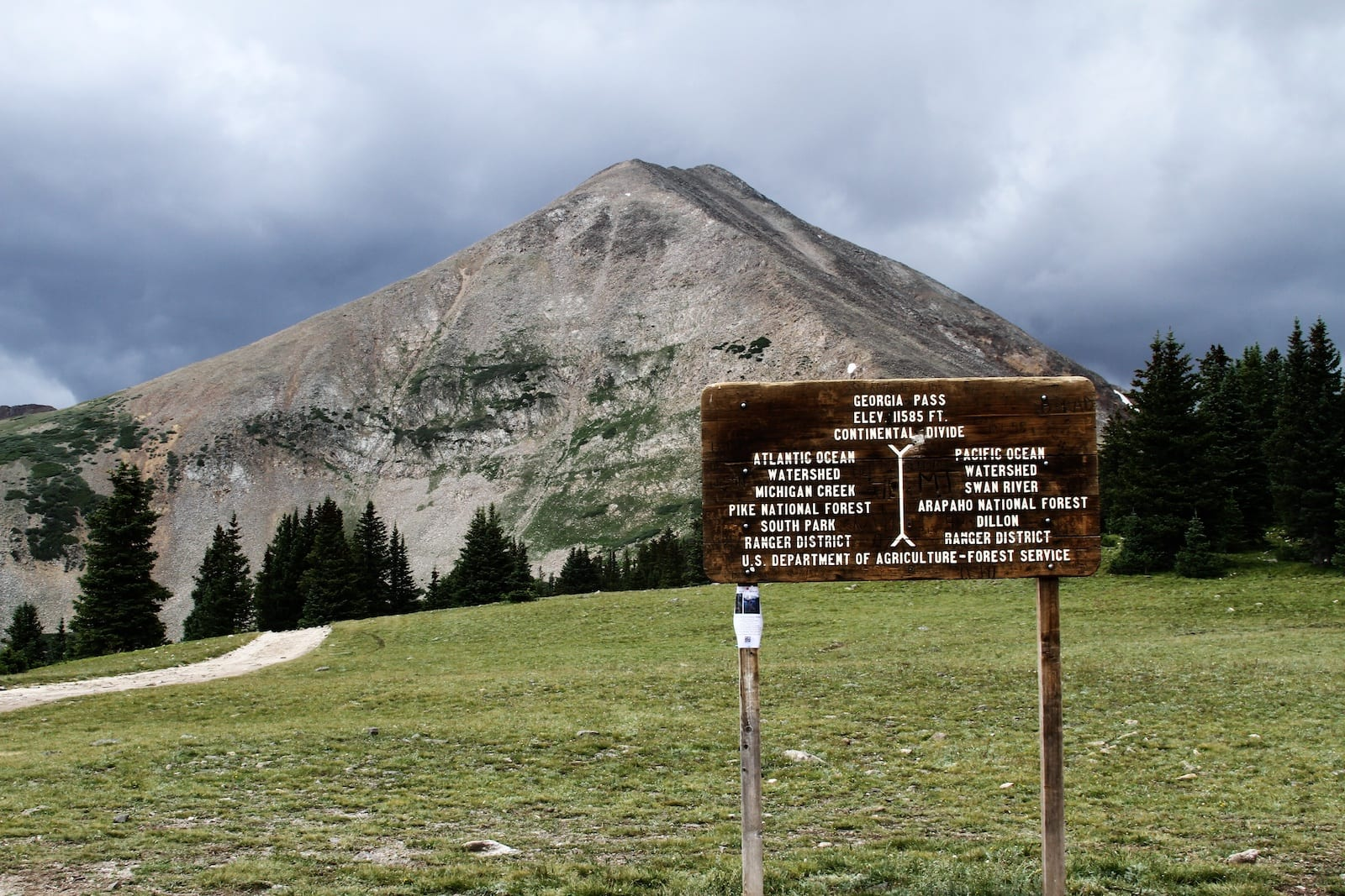 Georgia Pass sign, Colorado