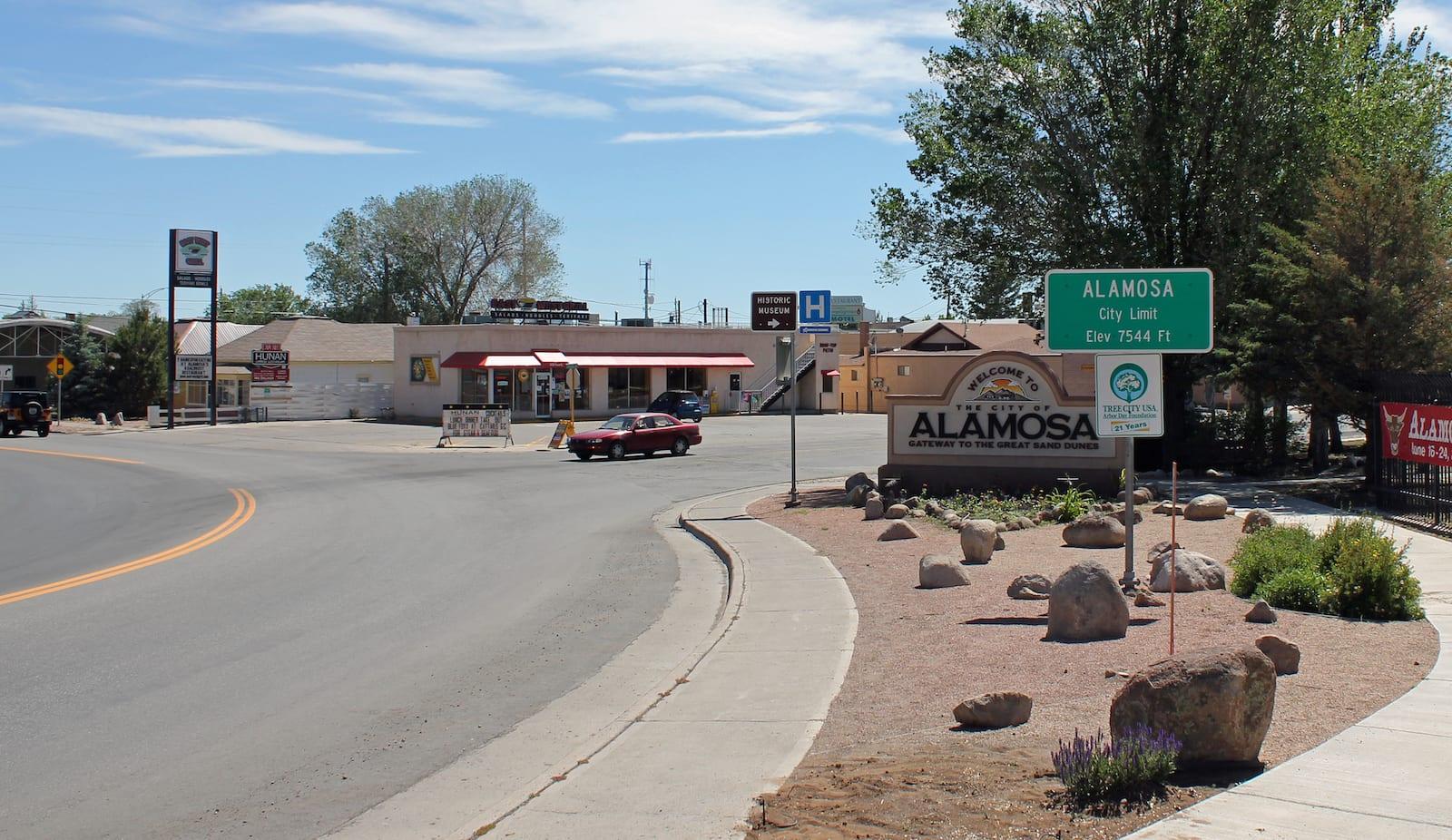 Alamosa CO City Limit Sign
