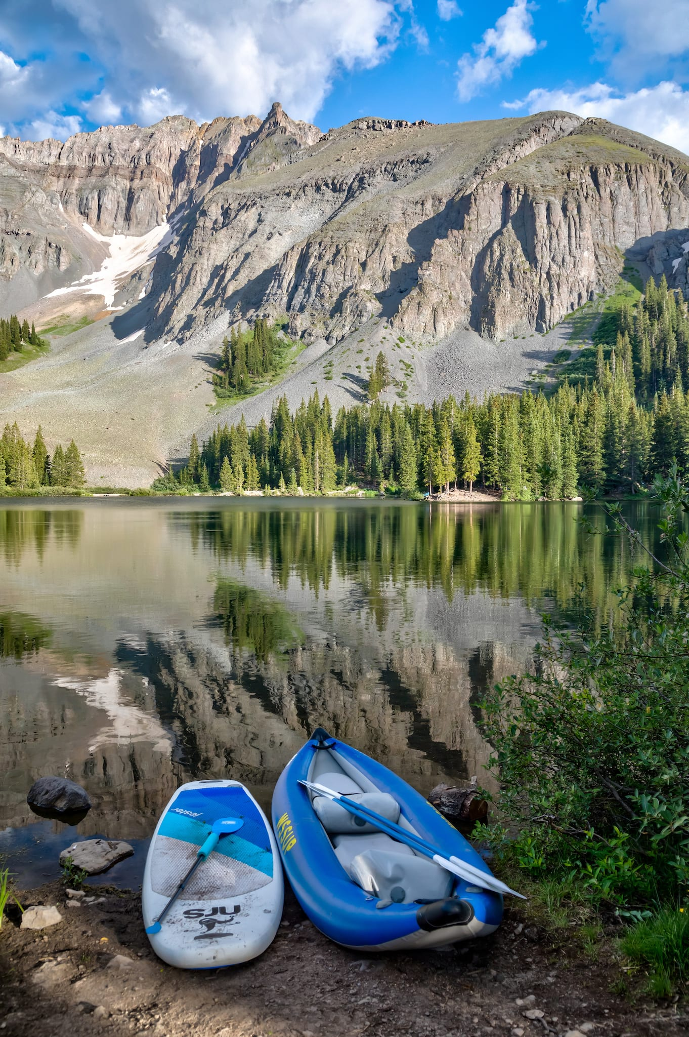 Alta Lakes Telluride CO SUP and Inflatable Kayak