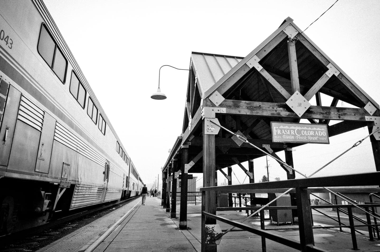 Amtrak California Zephyr Train Fraser Colorado