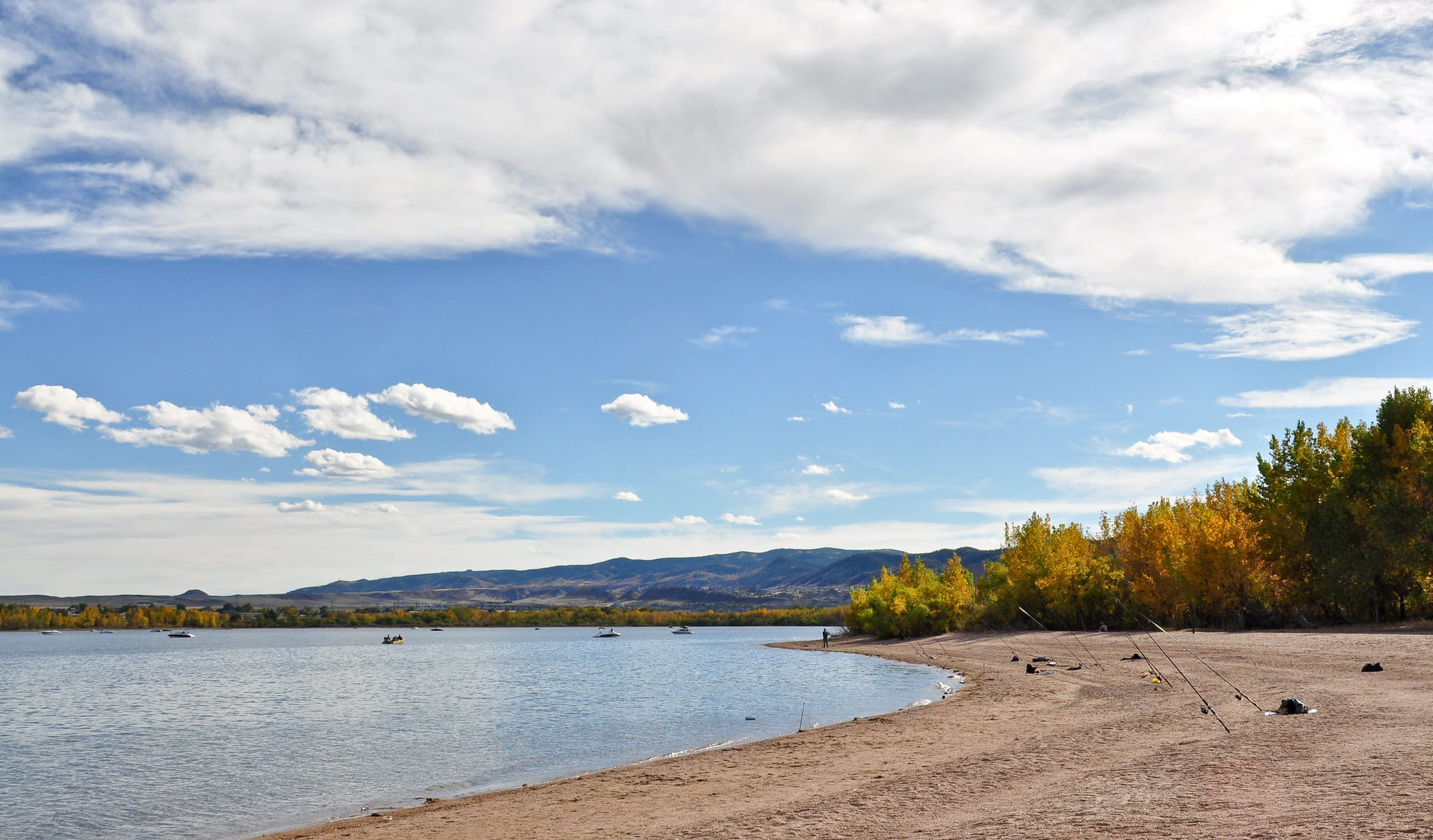 image of the beach at chatfield state park