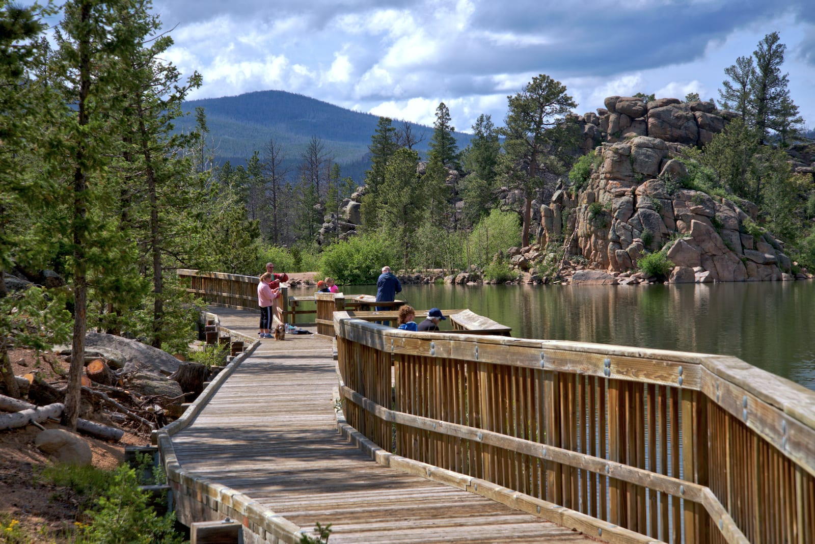 Bellaire Lake Red Feather Lakes Colorado Boardwalk