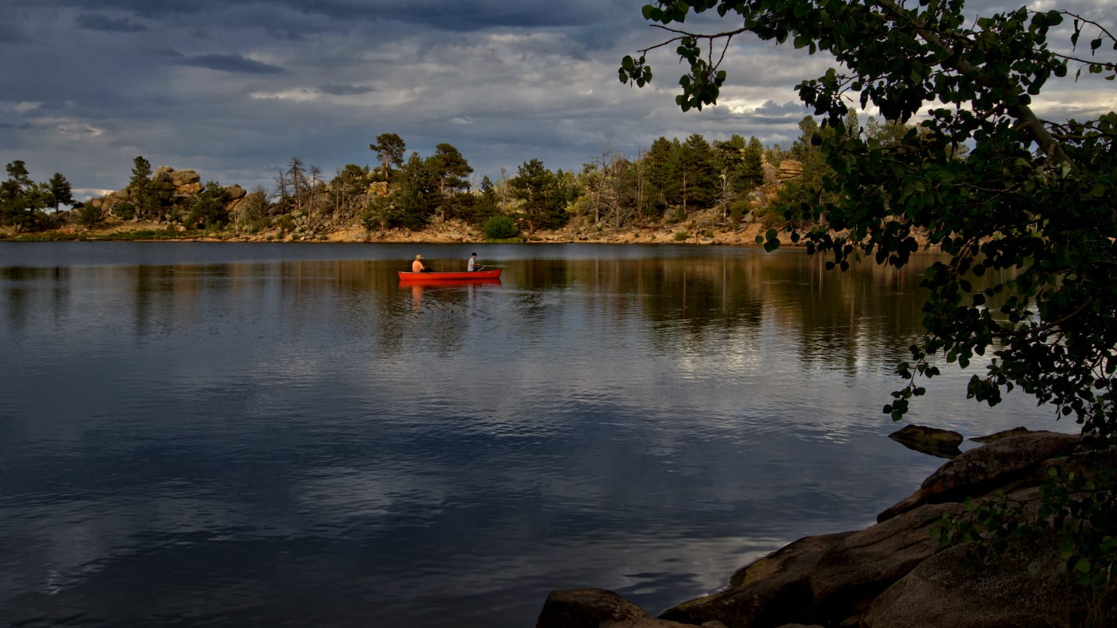 Bellaire Lake Red Feather Lakes Colorado Fishing Boat