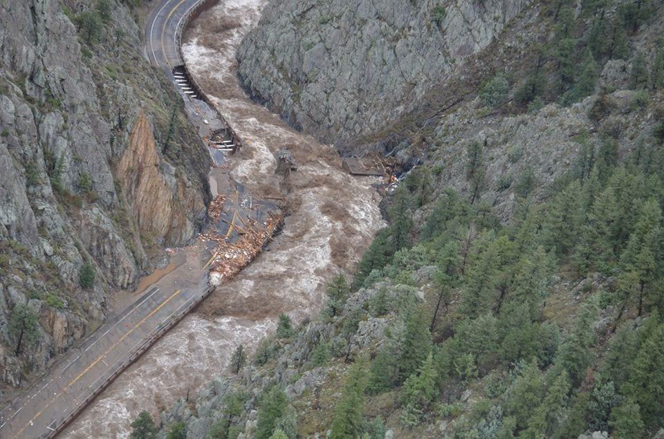 Big Thompson Canyon Dillie Diversion Dam 2013 Flood