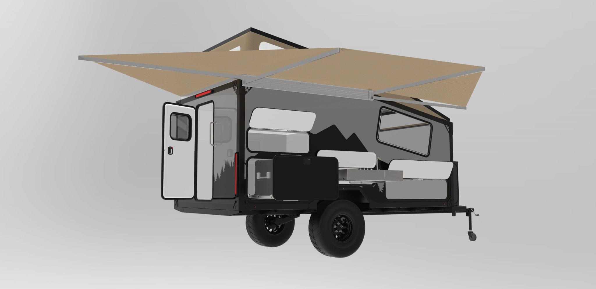 Boreas XT-12 Camper Opened Awning