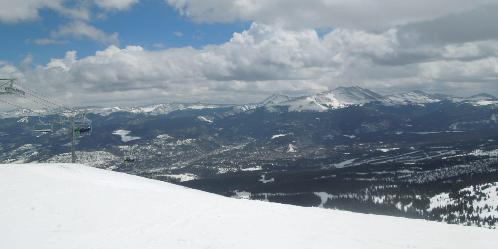 Breckenridge Town Aerial View from Peak 6 Ski Resort