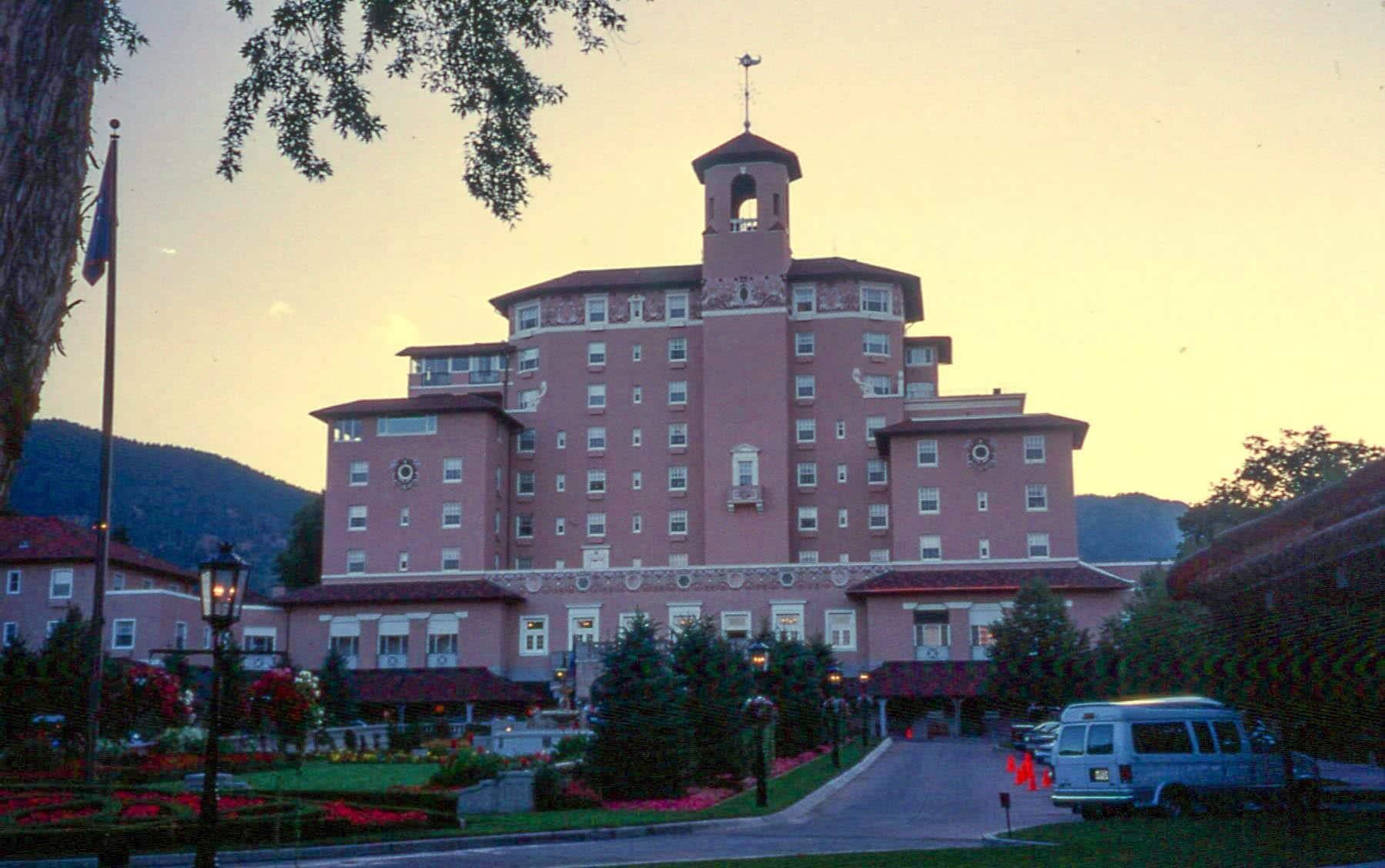 Broadmoor Hotel Colorado Springs Sunset 1998