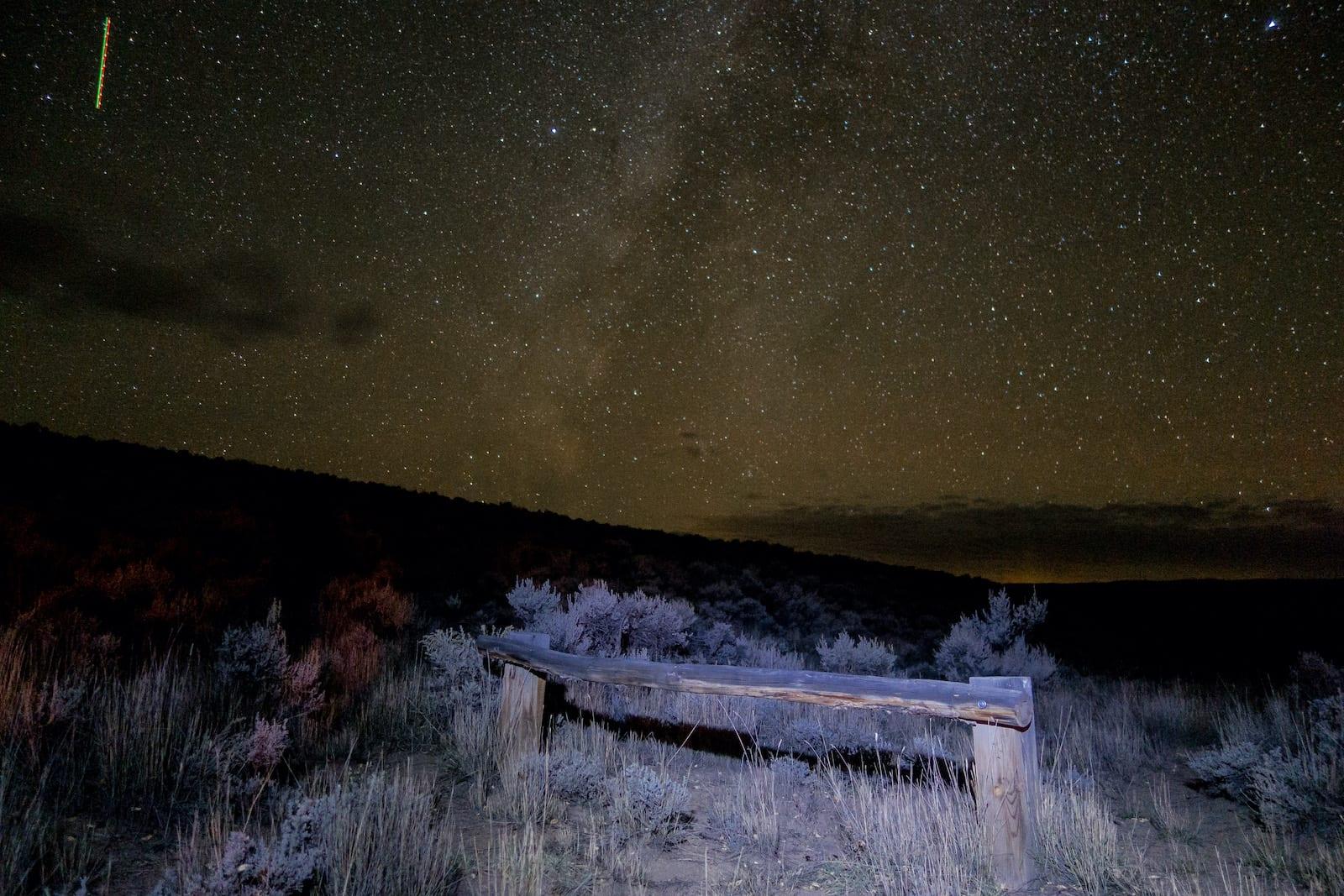 Camping by Hartman Rocks Gunnison CO Night Sky Stars