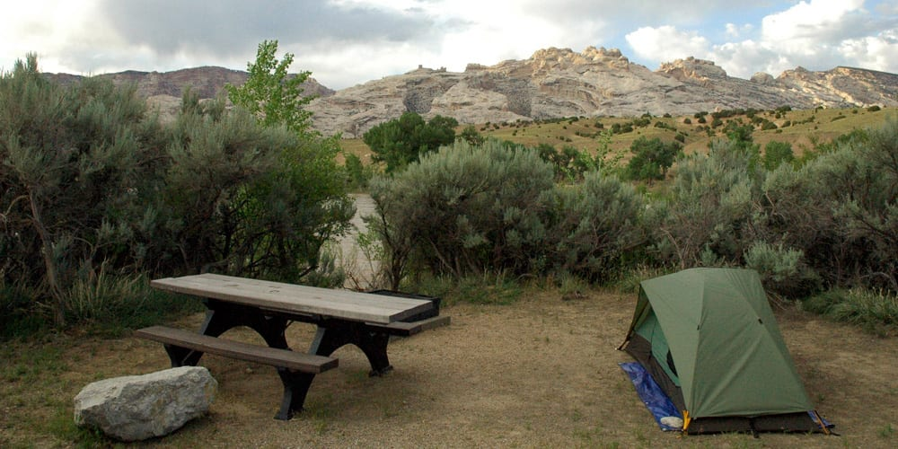 Tent Green River Campground Dinosaur National Monument Utah