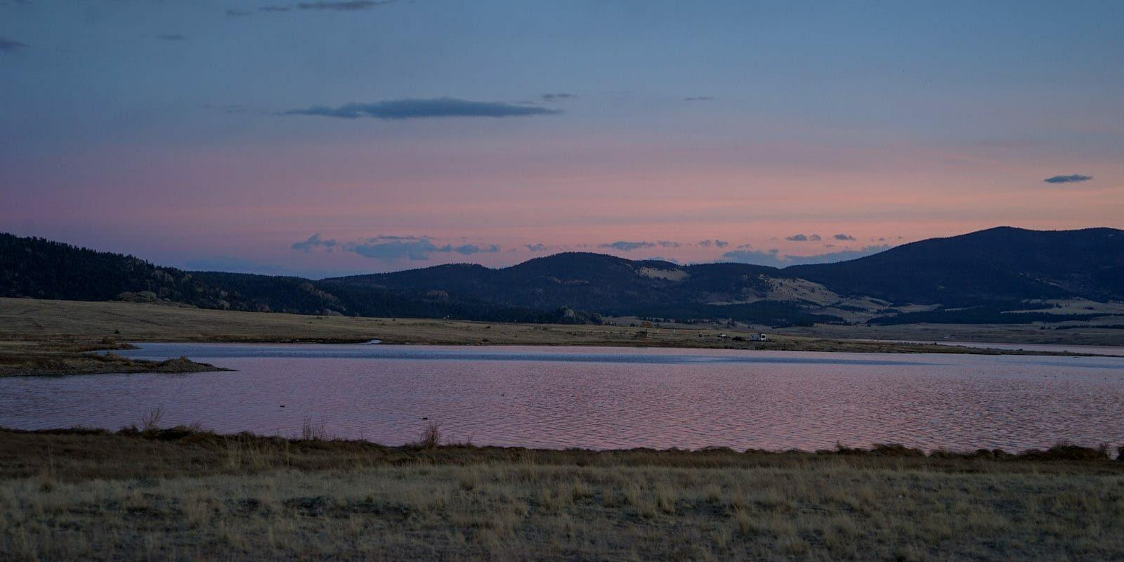 Camping Eleven Mile Reservoir Sunset Lake George CO
