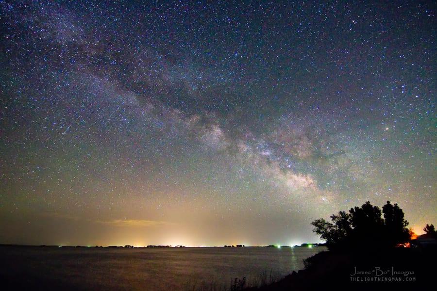 Camping by Jackson Lake Night Stars Colorado