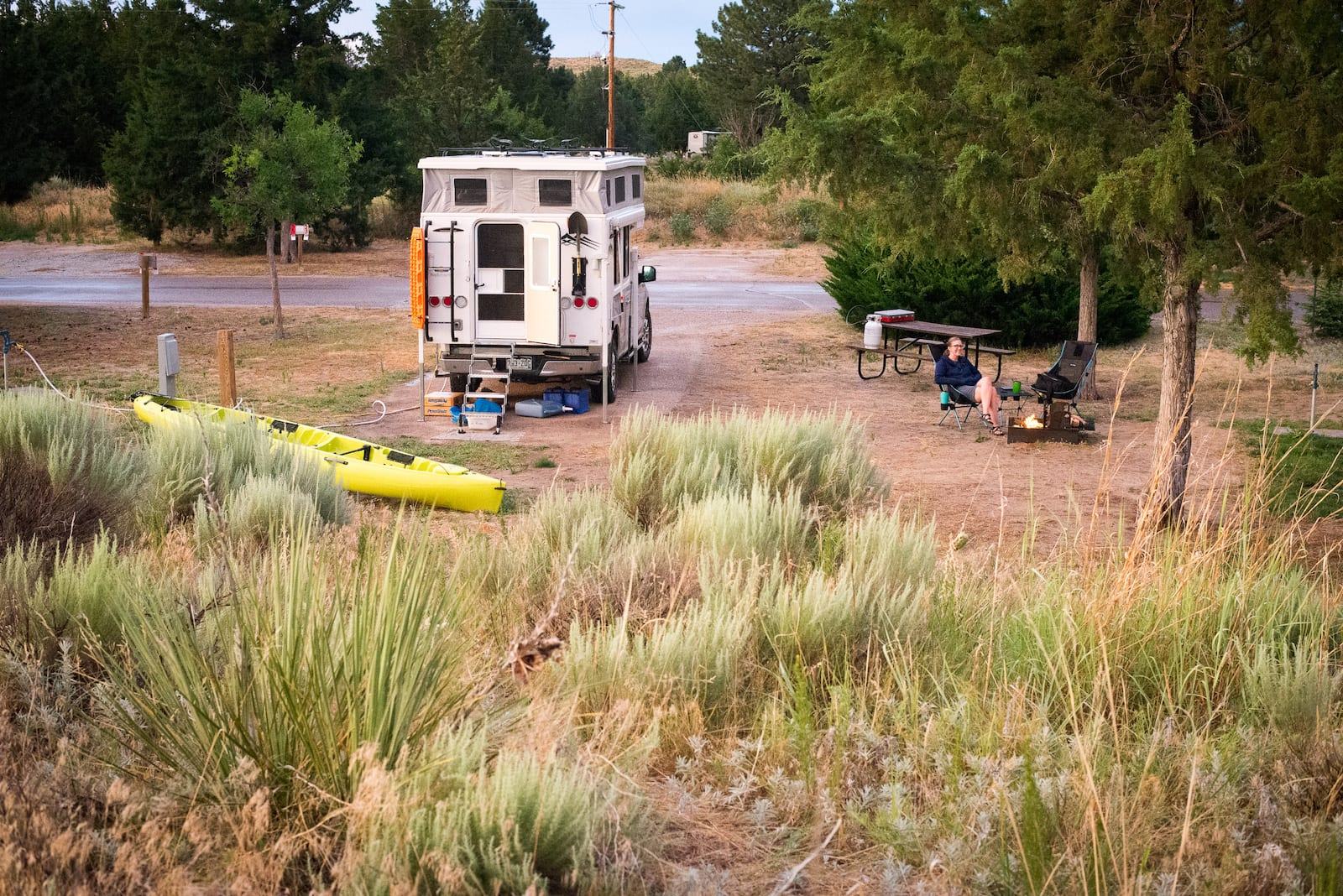 RV Campsite Lake McConaughy Nebraska