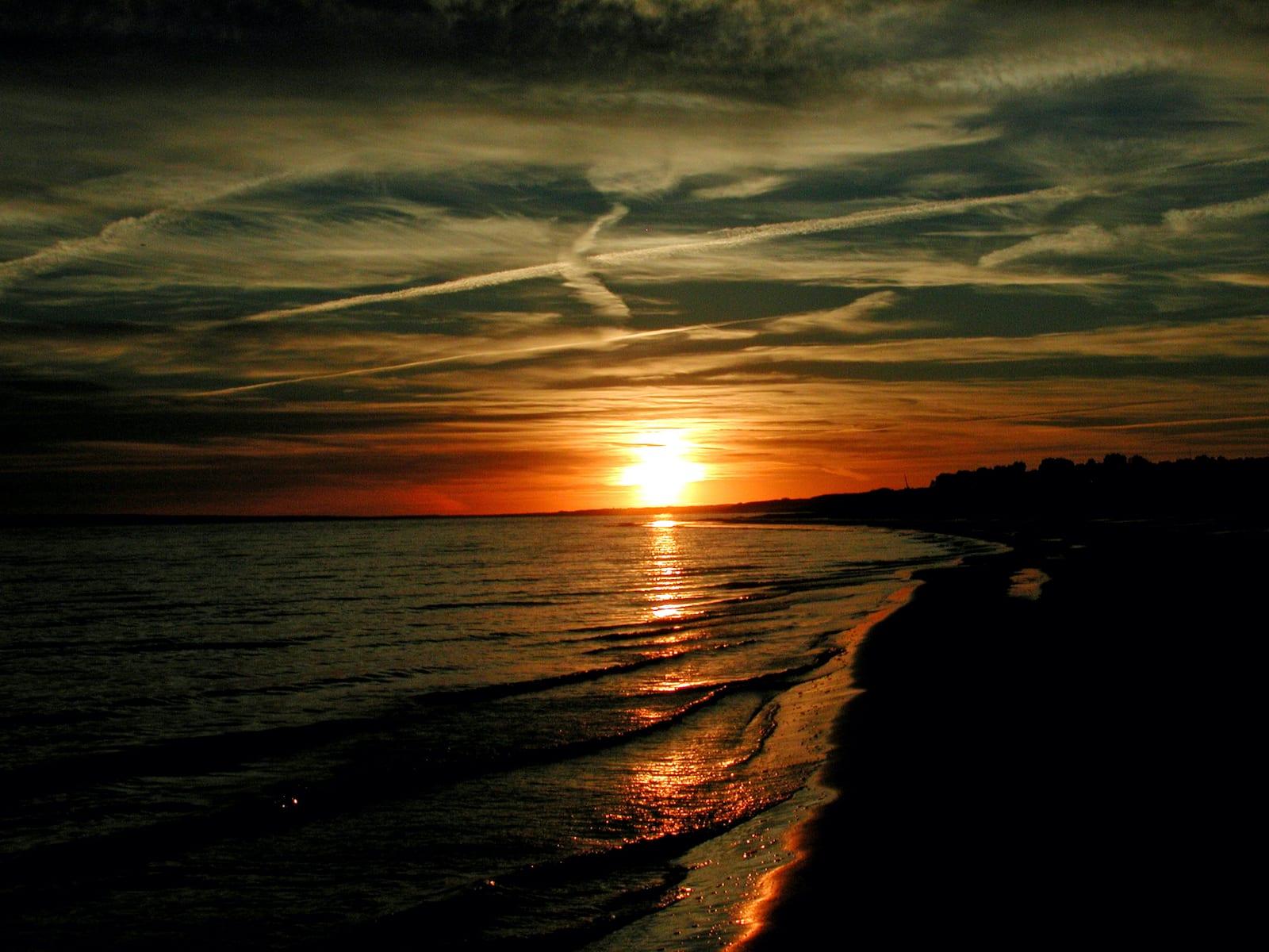 Camping Lake McConaughy Nebraska Sunset