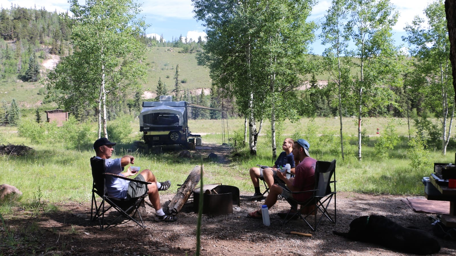 Camping near Creede CO Bristol Head Campground Fire Ring