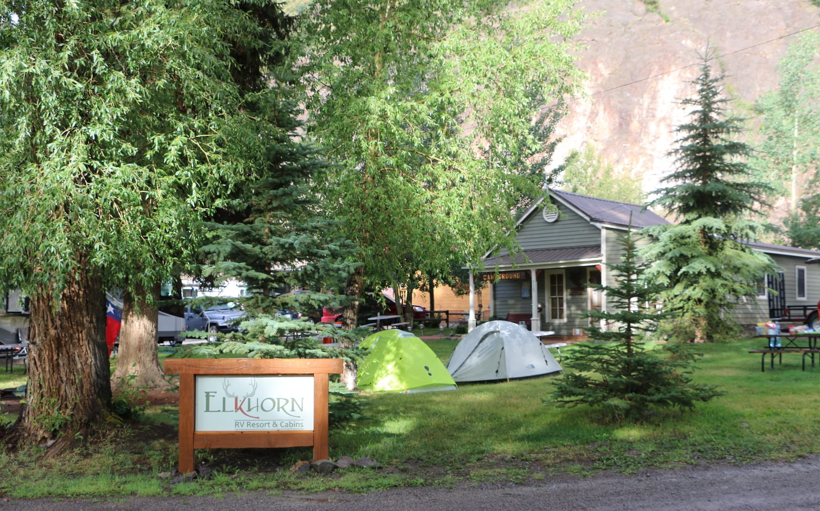 Tent Camping near Lake City, CO at Elkhorn RV Resort and Cabins