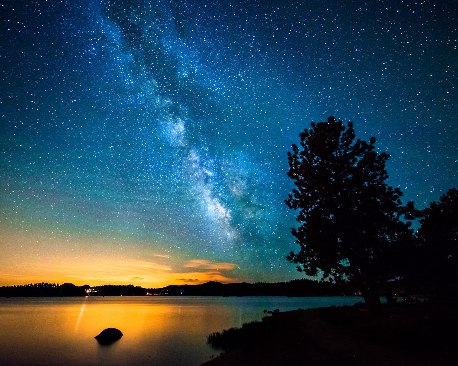 Dowdy Lake Red Feather Lakes CO Milky Way Night Stars
