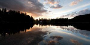 Camping near Telluride CO Alta Lakes Evening