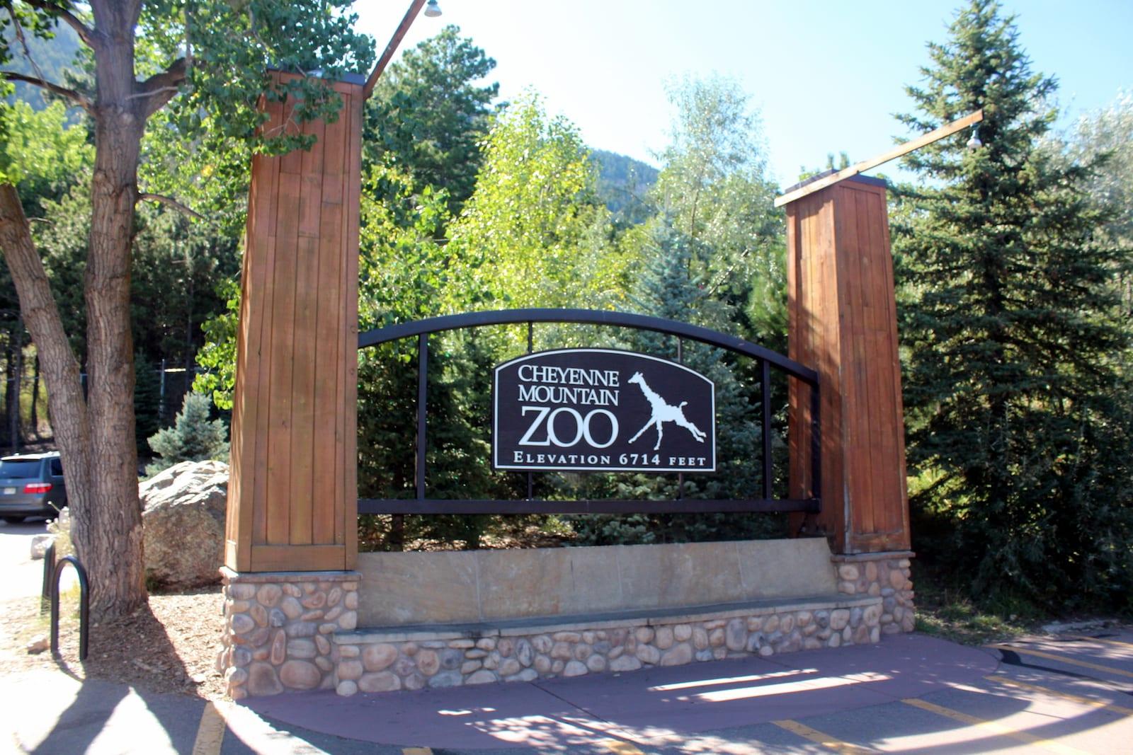 Cheyenne Mountain Zoo Entrance Sign