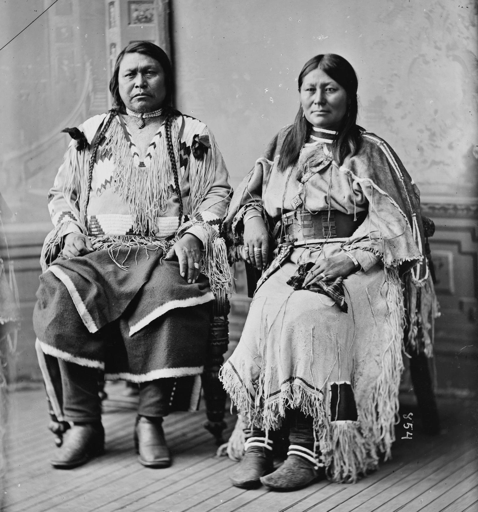 Chief Ouray and Wife Chipeta Ute Tribe