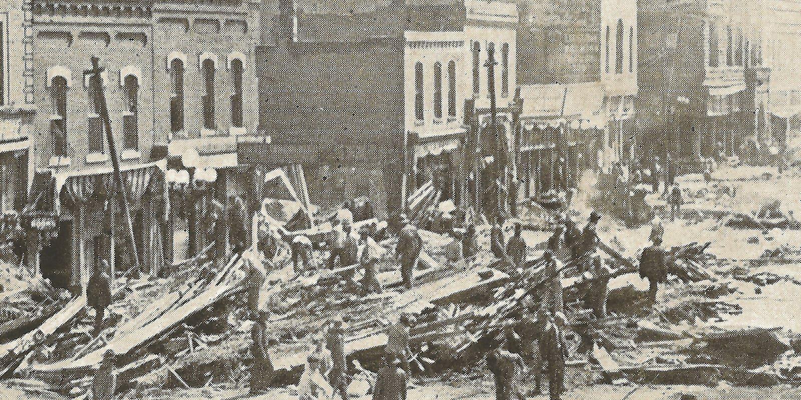 Downtown Pueblo CO Stores After 1921 Flood