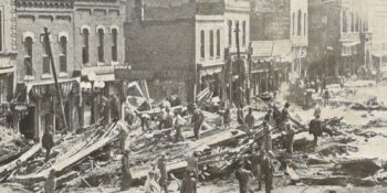 Downtown Pueblo CO Stores After 1921 Flood