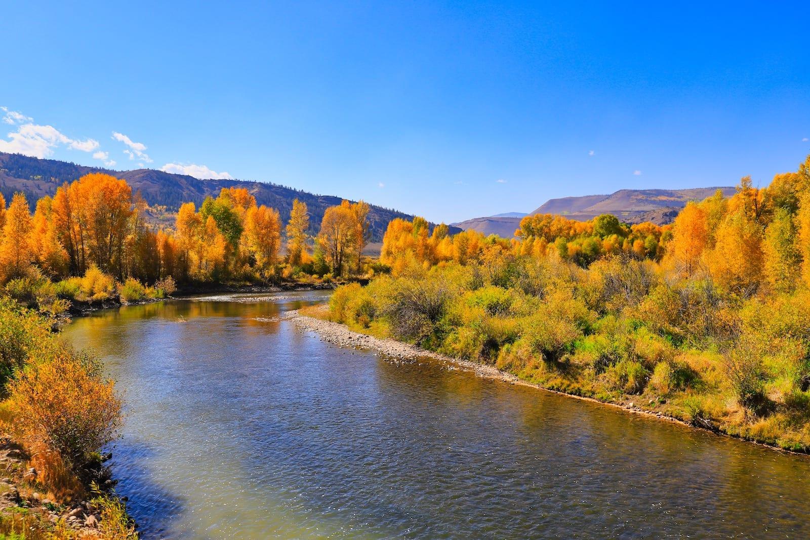 Colorado River Fall Colors Granby CO