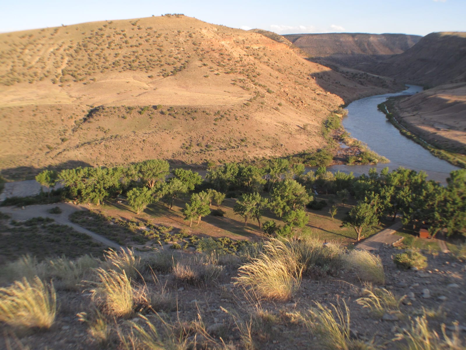 Confluence of North and South Forks of Gunnison River, near Hotchkiss