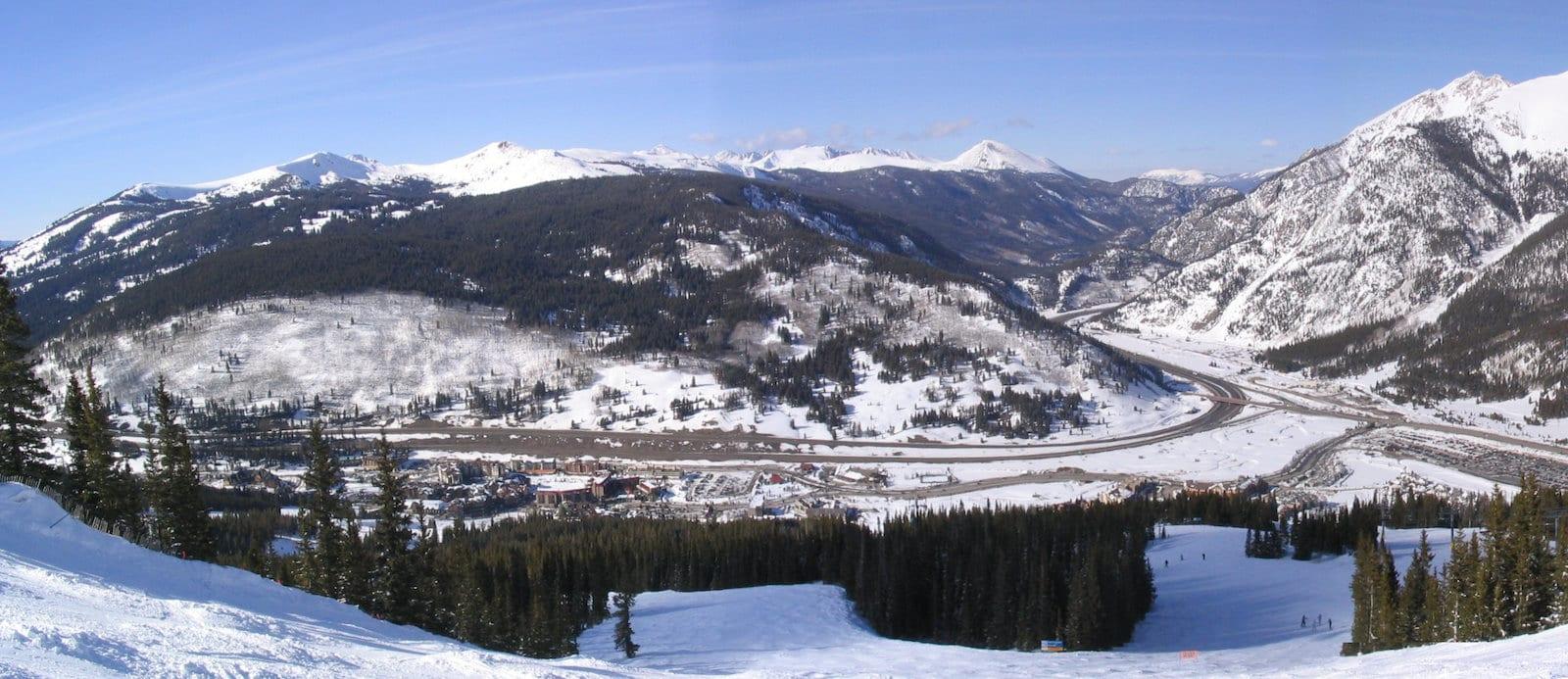 Copper Mountain Colorado Aerial View