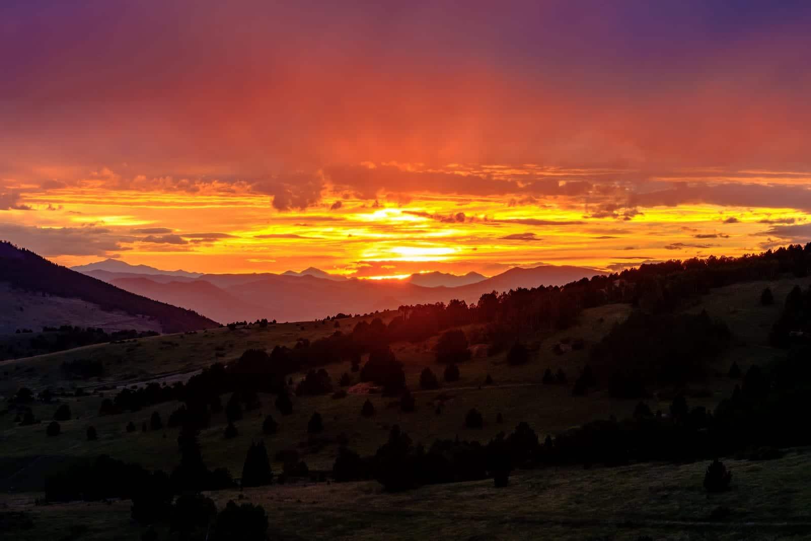 Cripple Creek Colorado Sunset Pike National Forest