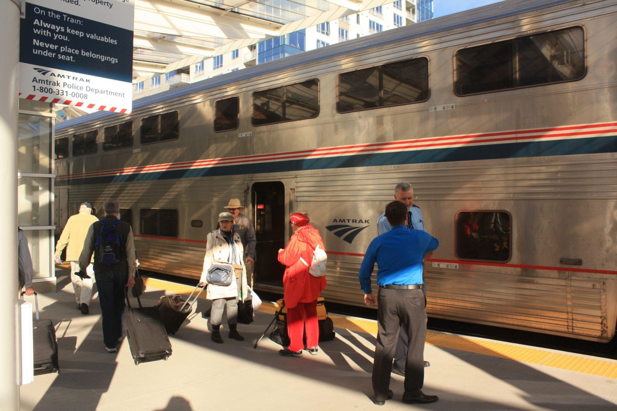 Amtrak California Zephyr Train Arrival Denver Union Station