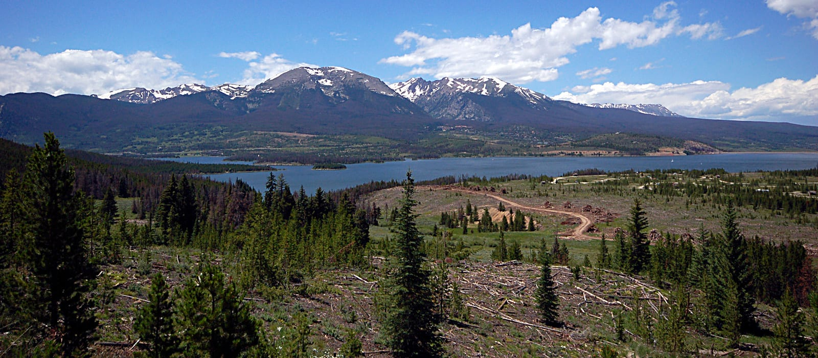 Dillon Reservoir Looking West Colorado