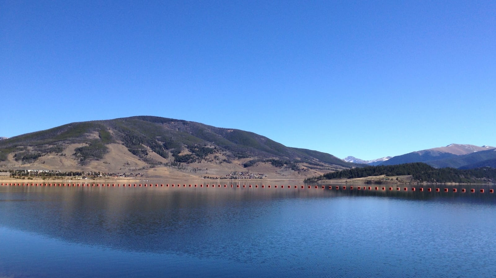 Dillon Reservoir Looking East to Dillon CO from Frisco