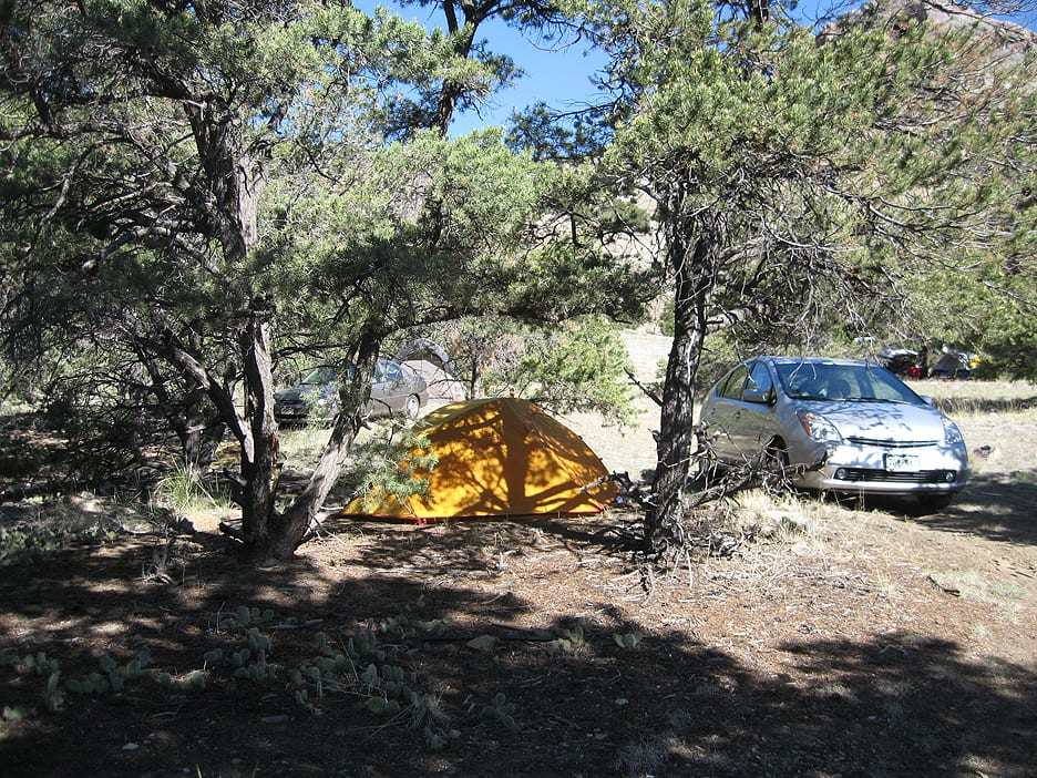 Dispersed Tent Camping near Salida CO