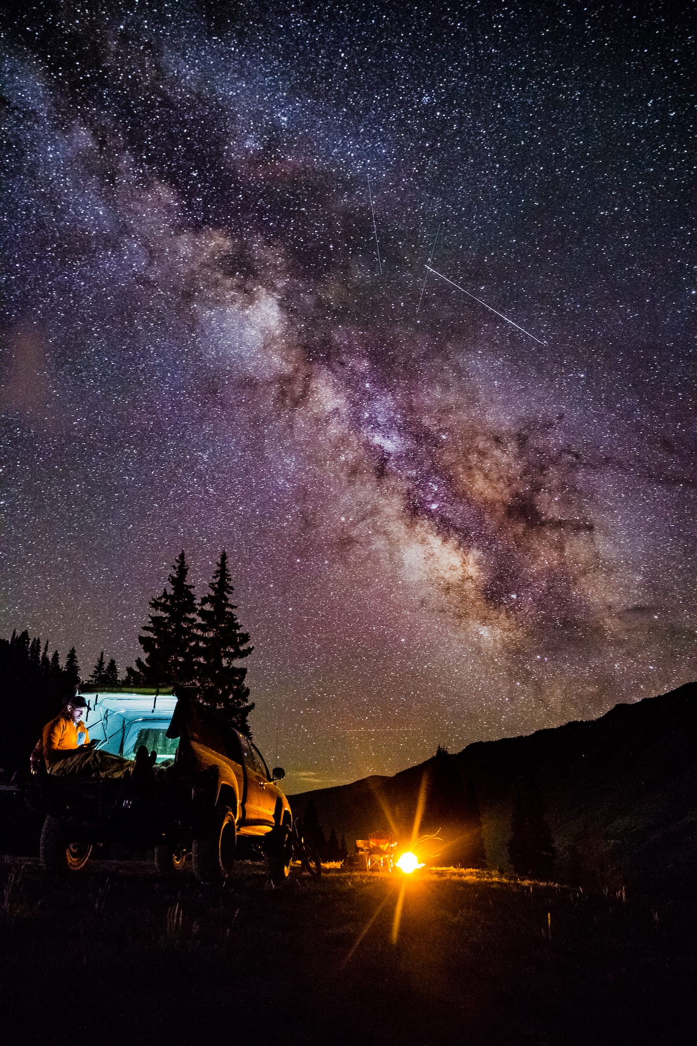 Dispersed Car Camping Crested Butte Night Stars