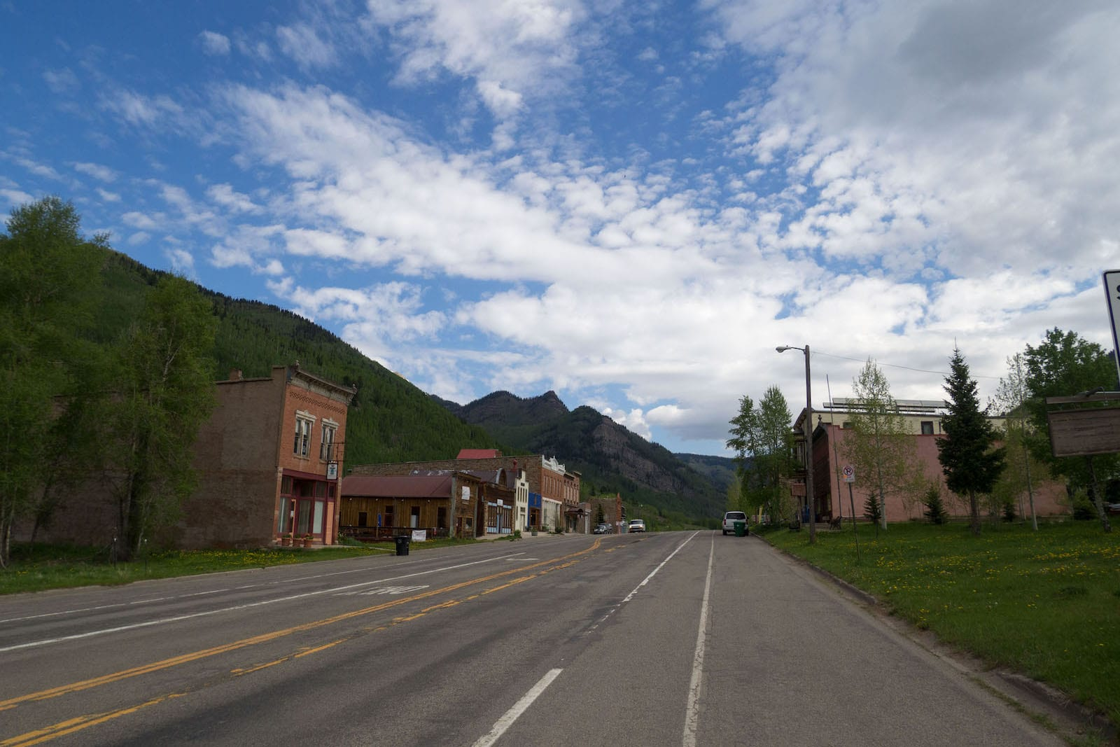 Downtown Rico CO State Highway 145
