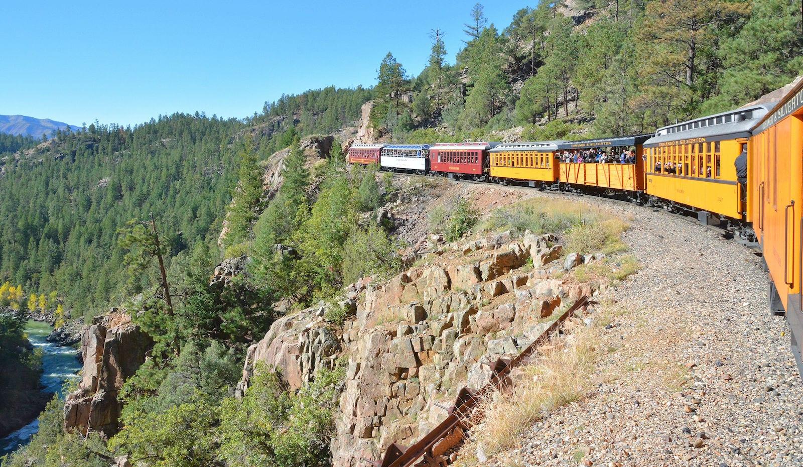 Durango and Silverton Narrow Gauge Railroad Above Animas River